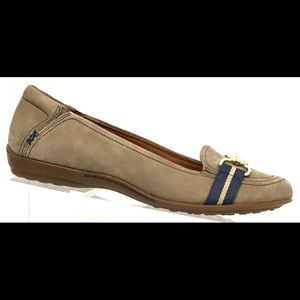 Sofft Suede Horsebit Flat Loafers